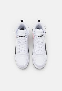 Puma - REBOUND JOY UNISEX - Zapatillas altas - white/black/high risk red - 3