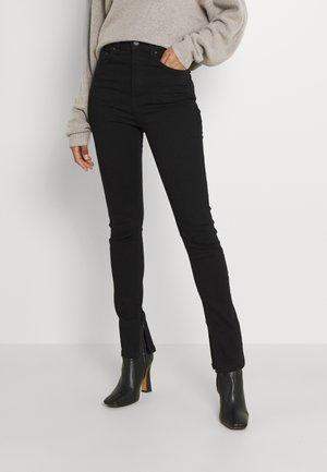 SUPERSTRETCH SLIT - Slim fit jeans - black