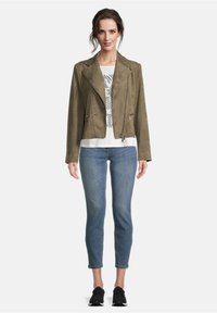 Betty Barclay - Faux leather jacket - olive - 1