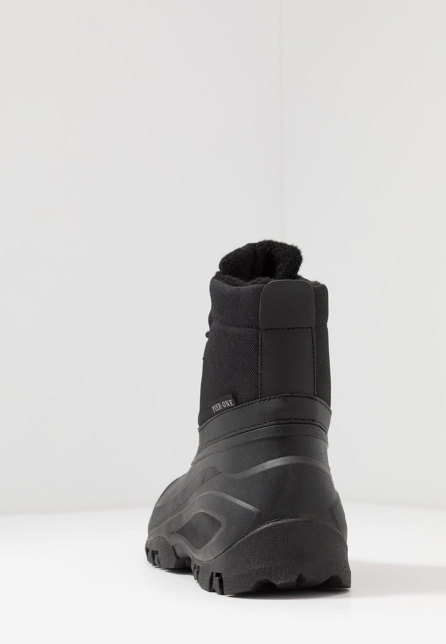 Pier One Vinterstøvler - Black/svart