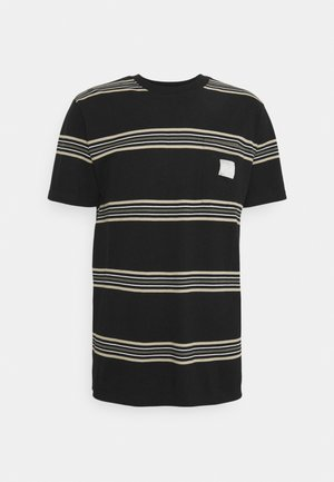 STONA STRIPE TEE - T-shirt print - black