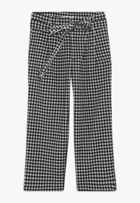 Scotch & Soda - WIDE LEG FIT PAPER BAG WAIST PANTS IN STRUCTURED CHECK - Trousers - black/white - 0