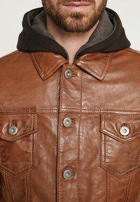 Serge Pariente - JEAN JACKET HOOD - Leather jacket - cognac - 6