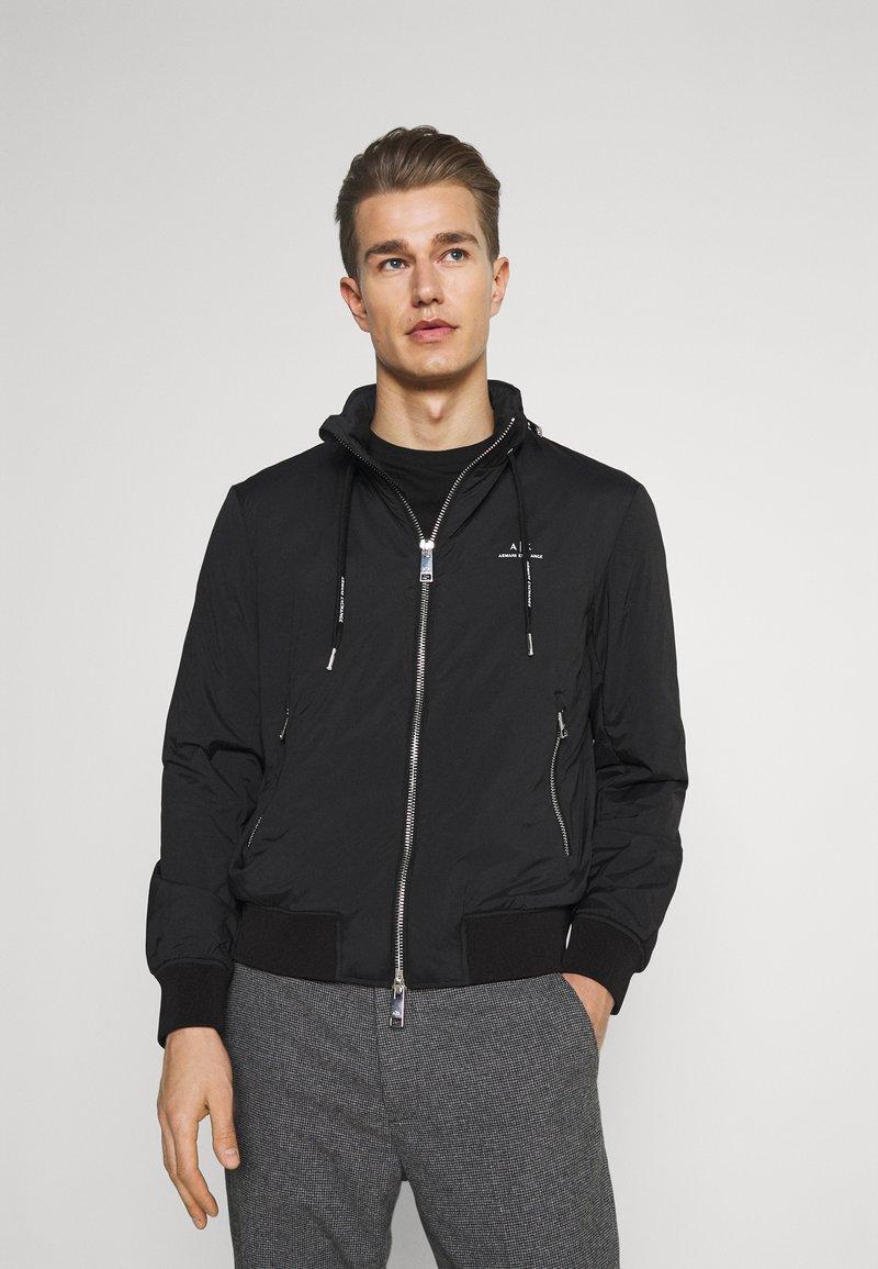 Armani Exchange - JACKET - Summer jacket - black