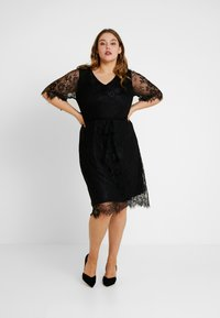Zizzi - XYANA KNEE DRESS - Cocktail dress / Party dress - black - 2