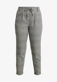 ONLPOPTRASH EASY SAVIL CHECK PANT - Trousers - black/merlot