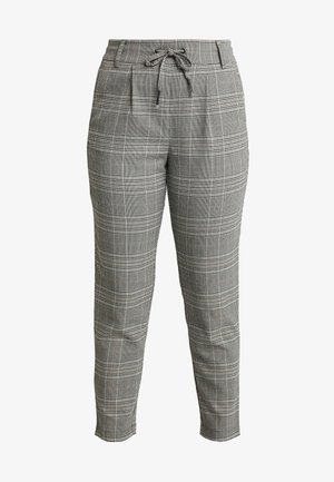 ONLPOPTRASH EASY SAVIL CHECK PANT - Trousers - black/merlot
