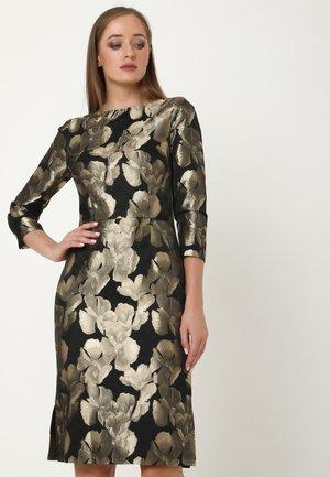 Etui-jurk - schwarz bronze