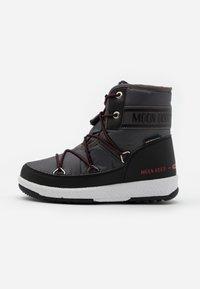 Moon Boot - BOY MID  - Botas para la nieve - black /castlerock - 0