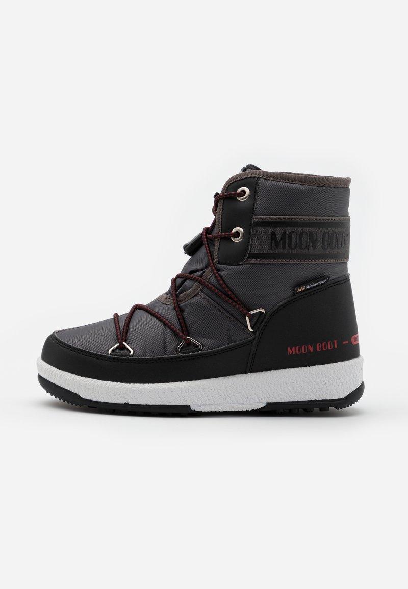 Moon Boot - BOY MID  - Botas para la nieve - black /castlerock