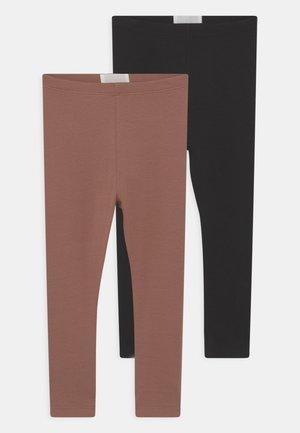 2 PACK UNISEX - Leggings - black/brown