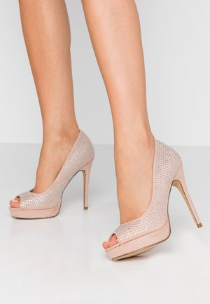 GIFTIE ALL OVER COURT SHOE - Peeptoe heels - blush