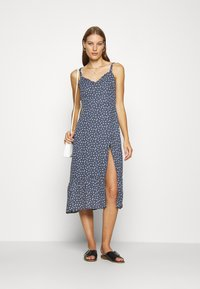 Abercrombie & Fitch - TIE SHOULDER DRESS - Day dress - blue/white - 1