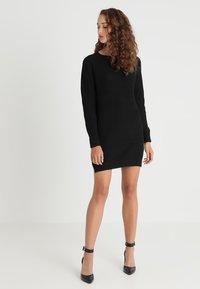 Noisy May - NMSIESTA O NECK DRESS - Strikket kjole - black - 1