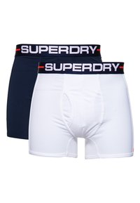 Superdry - DOUBLE PACK - Pants - optic/richest navy - 0