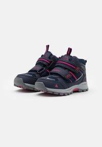 Kappa - HOVET TEX UNISEX - Hiking shoes - navy/pink - 1