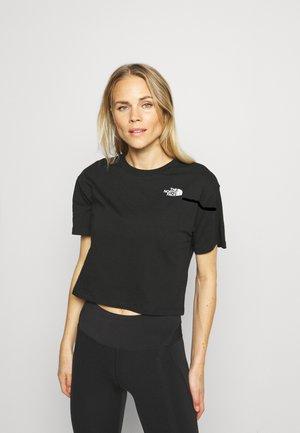 SIMPLE DOME TEE - Print T-shirt - black/white