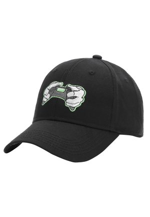 MISTER TEE CAP ALL DAY CURVED CAP - Cap - black/neon green