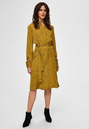 Shift dress - ecru olive