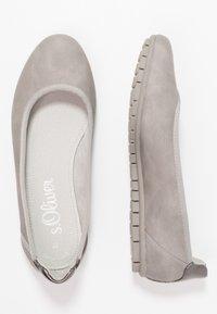 s.Oliver - Ballet pumps - light grey - 3