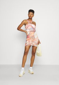 Jaded London - HOLE CUT OUT DOUBLE LAYER DRESS MIX ABSTRACT ART - Kjole - multi - 1