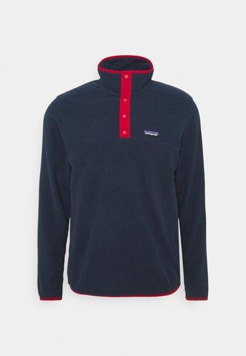 MICRO SNAP - Fleece jumper - new navy/classic red