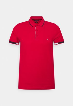 PLACKET DETAIL SLIM FIT - Polo - primary red
