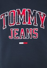 Tommy Jeans - PLAID GRAPHIC CREW - Bluza - twilight navy - 2