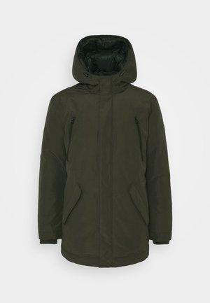 Down coat - dark green
