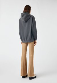 PULL&BEAR - Zip-up hoodie - mottled dark grey - 2