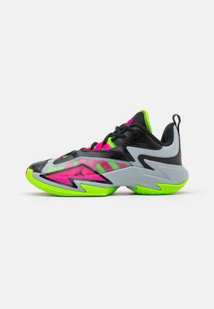 JORDAN ONE TAKE 3 UNISEX - Basketbalové boty - wolf grey/pink prime/electric green