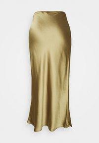 Topshop Petite - SILT BIAS SKIRT - Maxi skirt - green - 1