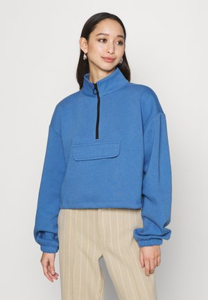 UTILITY POCKET FUNNEL - Sweatshirt - blue