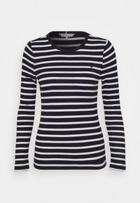 Tommy Hilfiger - SKINNY OPEN  - Long sleeved top - desert sky/white - 0