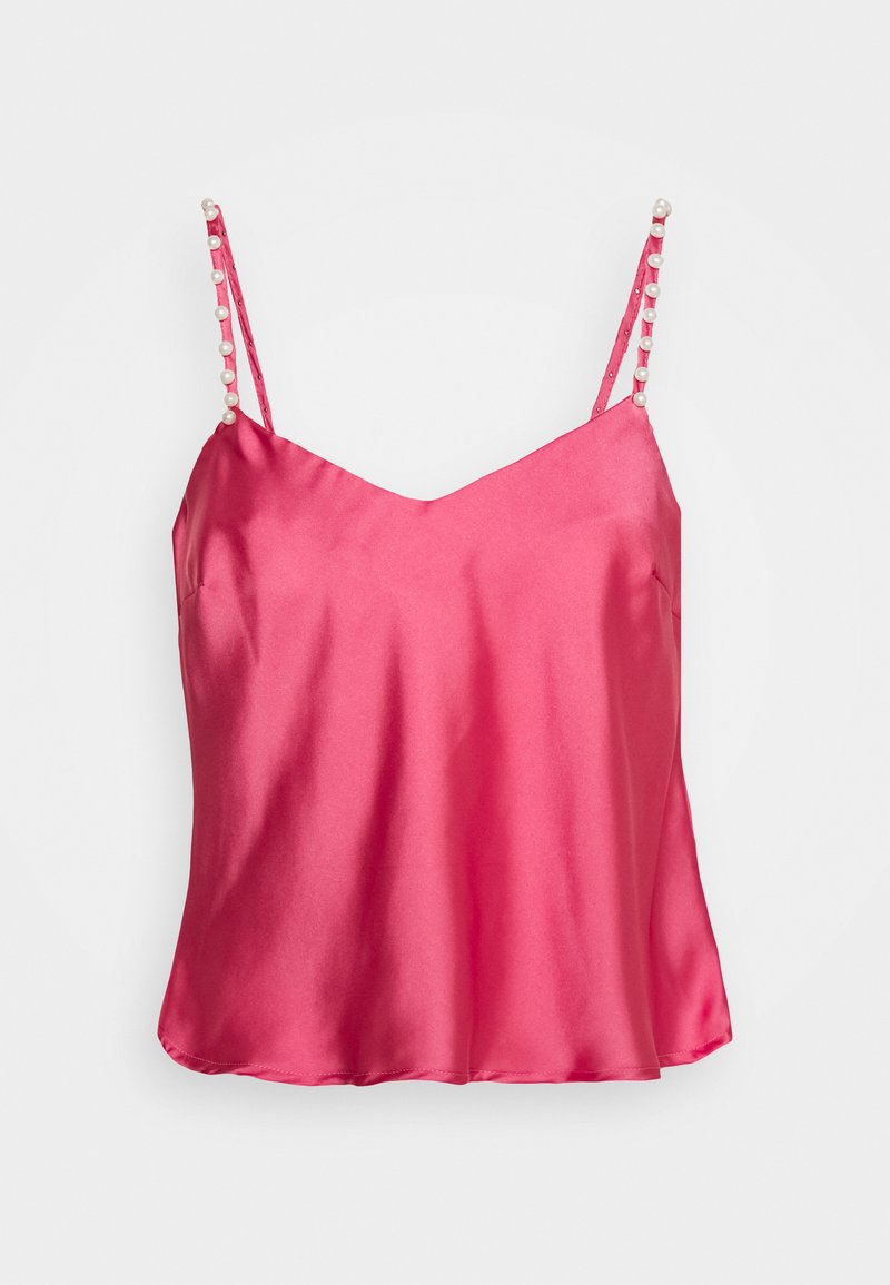 Lost Ink - PEARL STRAP CAMI - Blouse - pink