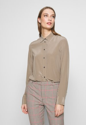 BLOUSE - Button-down blouse - grey taupe