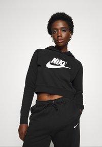 Nike Sportswear - CROP - Sweatshirt - black/white - 0