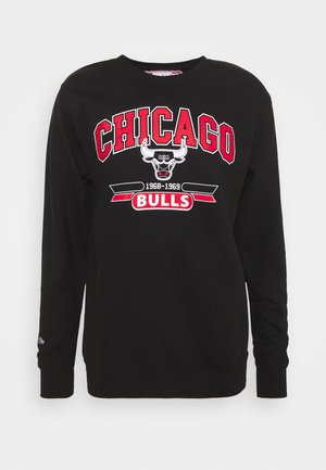NBA CHICAGO BULLS ARCH LOGO CREWNECK - Club wear - black