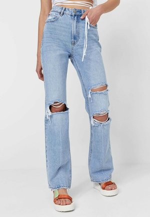 VINTAGE - Jeansy Dzwony - light blue