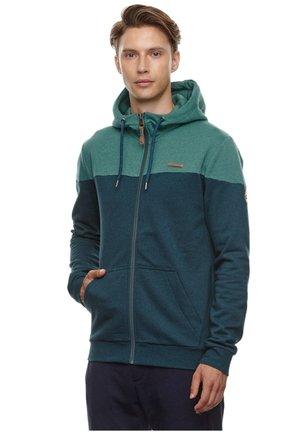 TOMMIE - Zip-up hoodie - dusty green