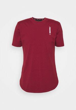 WARRIOR TEE - T-shirt med print - maroon