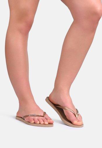 SLIM METAL CRYSTAL - Pool shoes - bronze