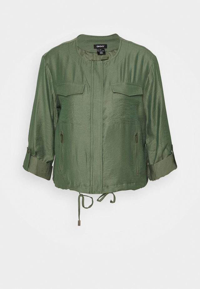 FOUNDATION ROLL TAB ZIP FRONT - Summer jacket - military green