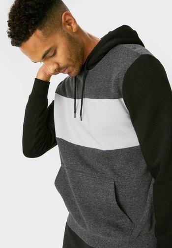 Hoodie - grey, black
