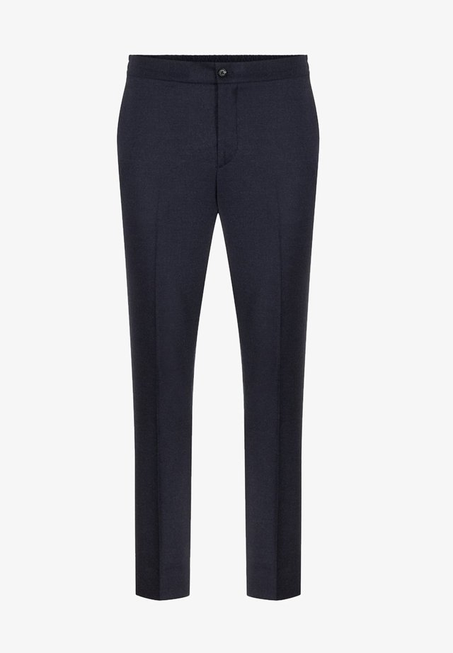 SASHA FLANNEL - Spodnie garniturowe - navy melange