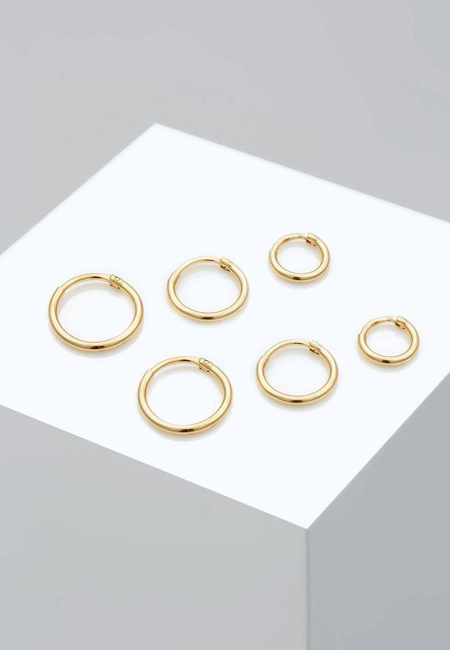 3 PACK - Oorbellen - gold-coloured