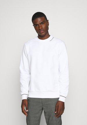NECKLINE LOGO - Sweatshirt - white