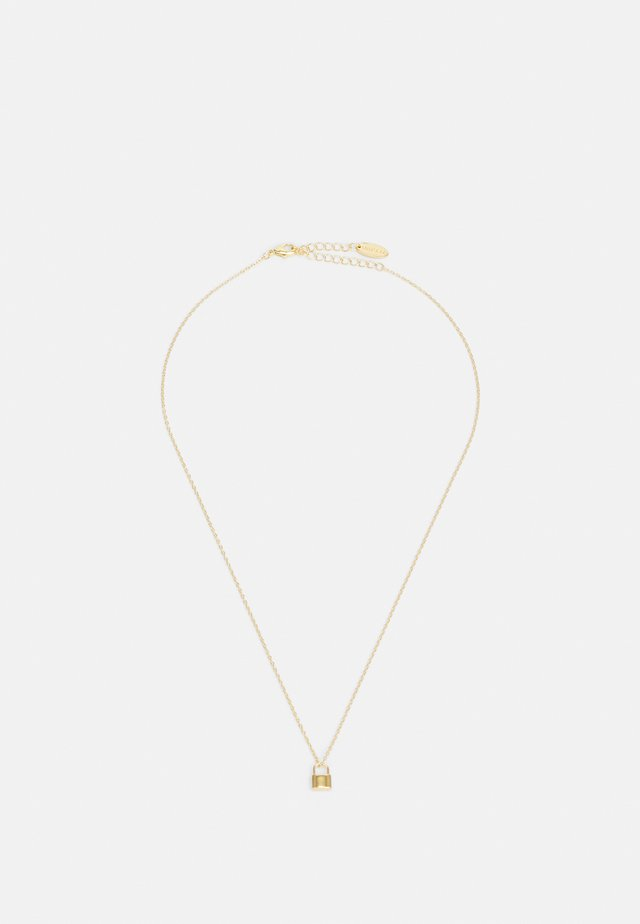 MINI PADLOCK NECKLACE - Halsband - pale gold-coloured