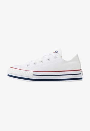 CHUCK TAYLOR ALL STAR PLATFORM  - Sneakersy niskie - white/midnght navy/garnet