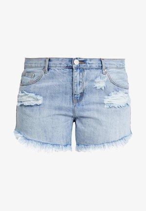 GLAMOROUS CURVE - Shorts vaqueros - light blue